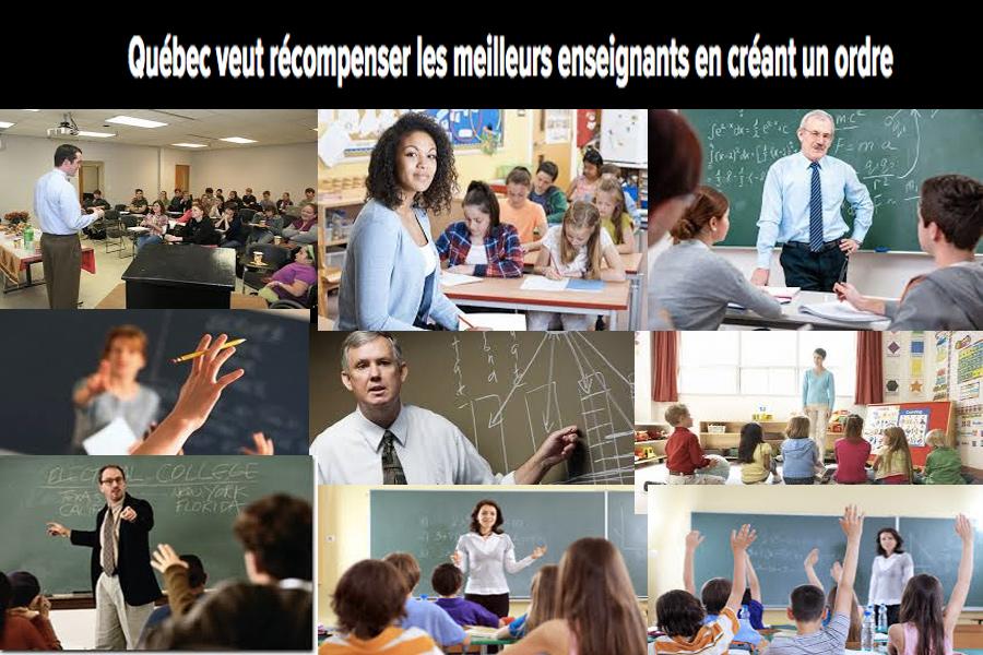 Excellence en éducation : Création d'un Ordre : Leur réussite, notre devoir
