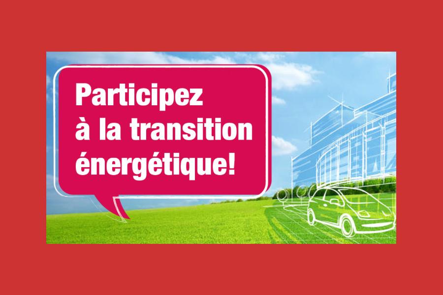 Transition énergétique : Consultation en ligne et ateliers thématiques